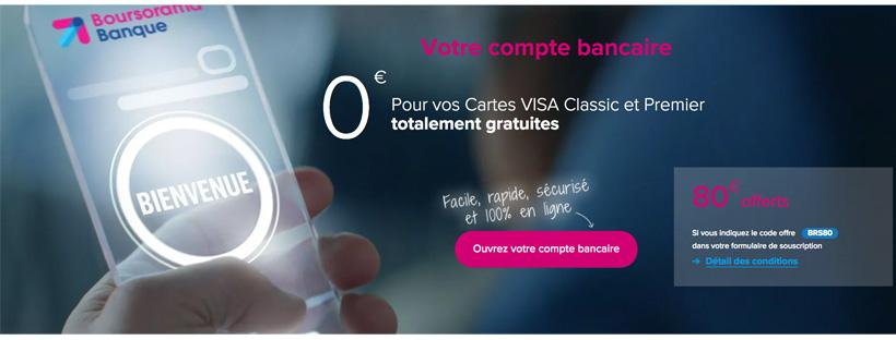 Condition revenu Boursorama Banque